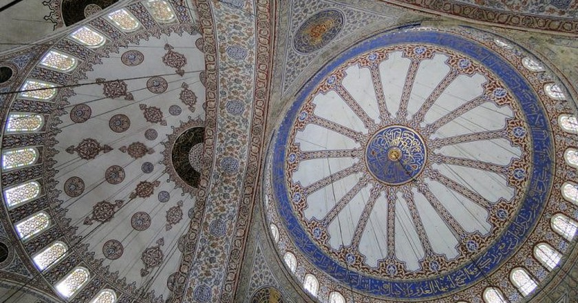 Ceiling of the Blue Mosque | © Adam Jones/Flickr