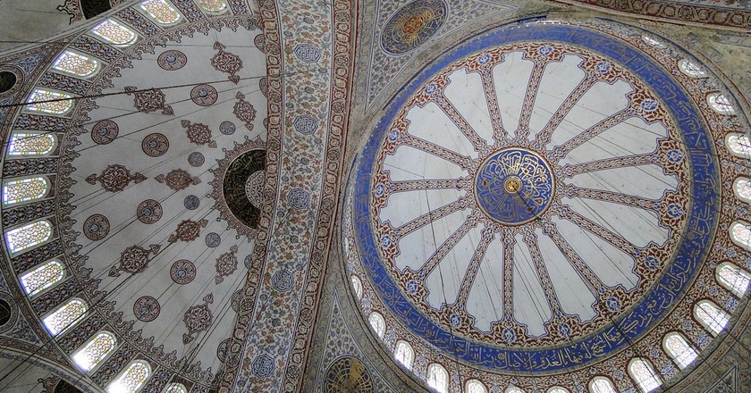 Ceiling of the Blue Mosque | © Adam Jones/Flickr