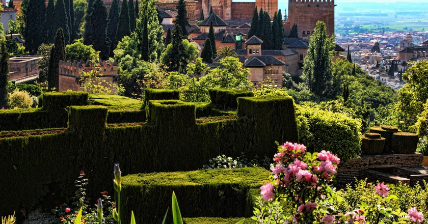 Granada's Alhambra fortress is beautiful in the spring