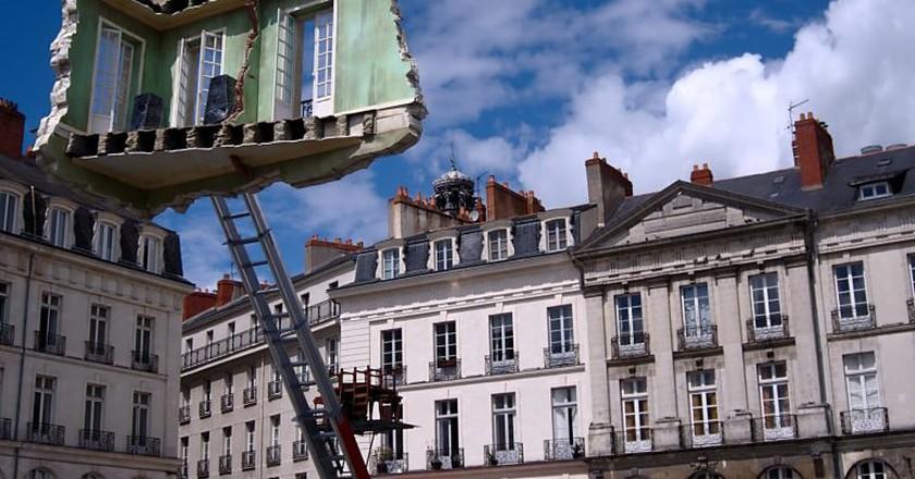Unique street art installations at the Voyage á Nantes