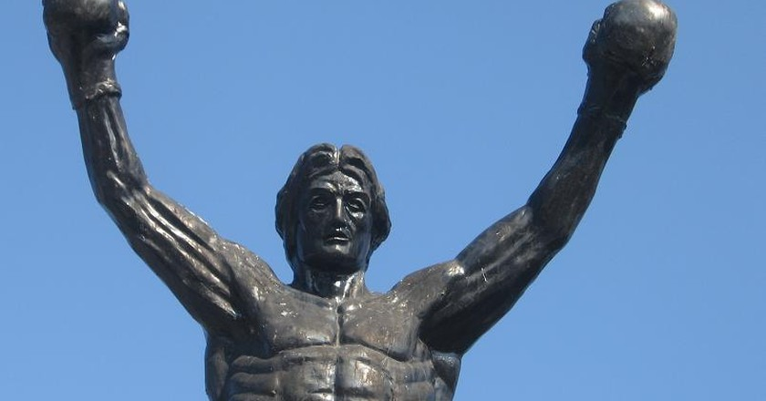 The statue of Rocky Balboa in Žitište | © Goran Necin / Flickr