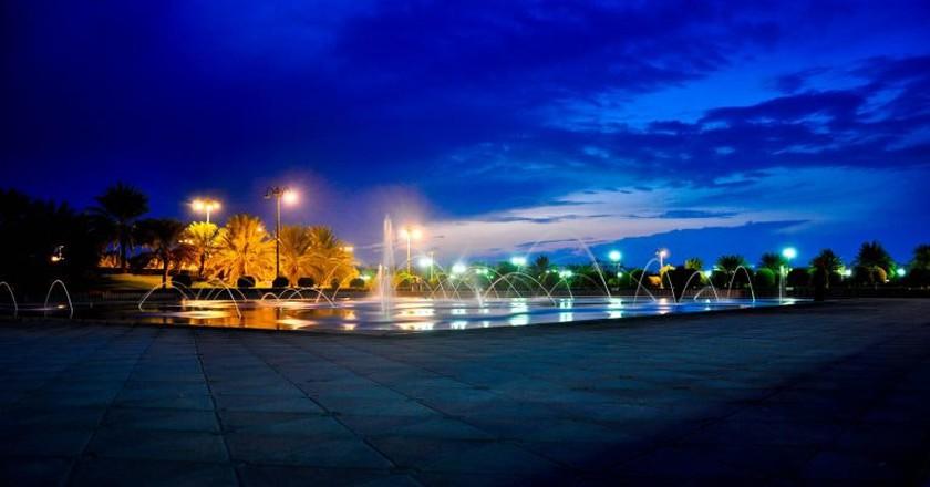 Dancing fountain in Rusayl Park, Muscat, Oman