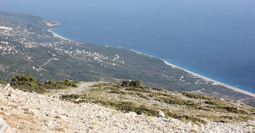 View of the Albanian Riviera from the Llogara Pass