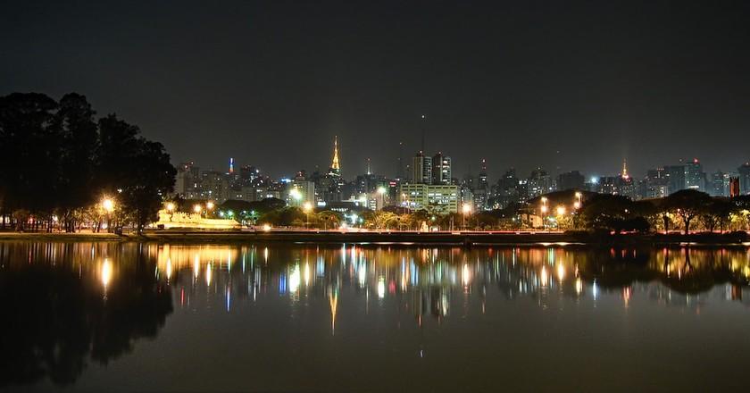 The skyline in São Paulo, Brazil