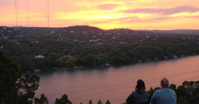 Mount Bonnell Sunset   © Enoch Lai / WikiCommons