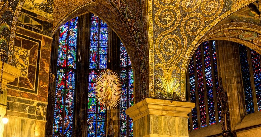 Inside Aachen Cathedral