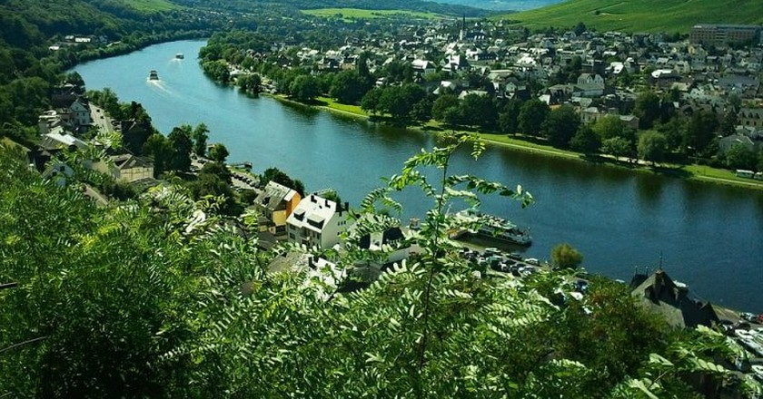 Bernkastel-Kues as seen from above