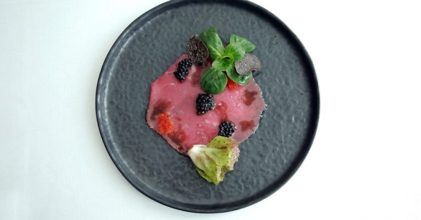 Veal carpaccio on the menu at Spazio7 restaurant, Turin | Courtesy Spazio7 Photo: Sara D'Incalci