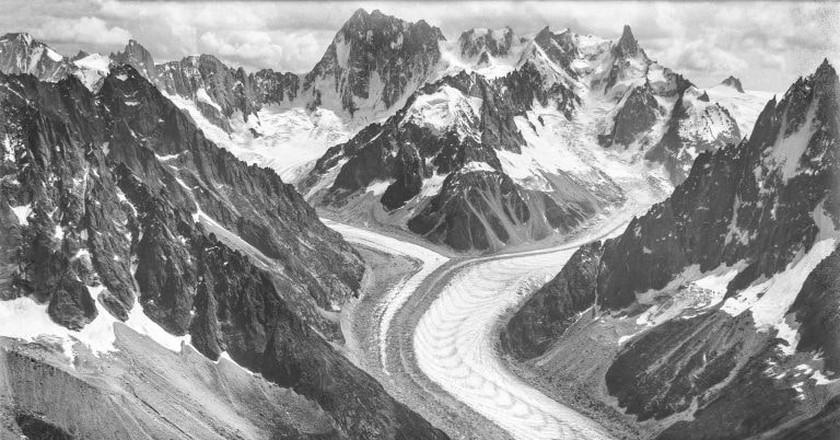 A photo of the Alps taken by Eduard Spelterini in 1909  © Eduard Spelterini/WikiCommons