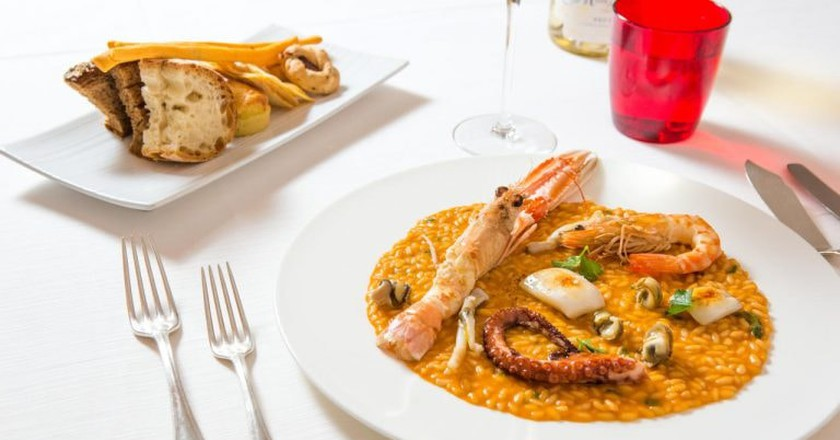 Seafood risotto at Chinappi Seafood Restaurant