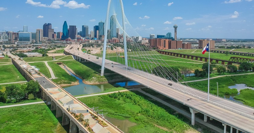 The Margaret Hunt Hill Bridge is an iconic symbol in Dallas