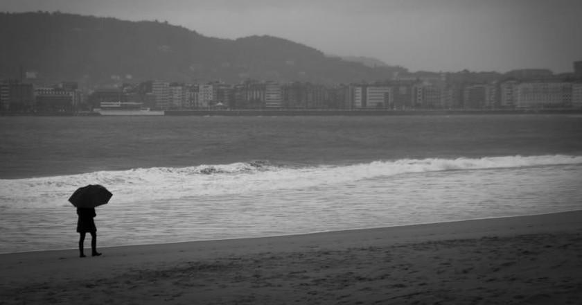 A rainy day in the Basque city of San Sebastián