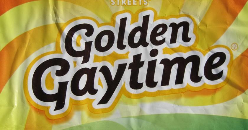 Golden Gaytime wrapper