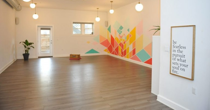 A yoga room at Asana Soul Practice