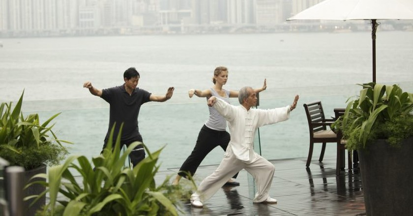 Tai Chi on the terrace