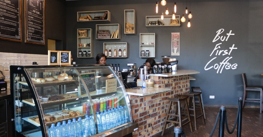 Brew Me Cafe in Lusaka, Zambia serves pumpkin spiced lattes