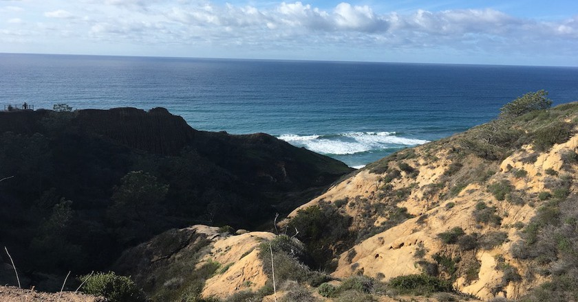 View from one of the trails at Torrey Pines State Natural Reserve