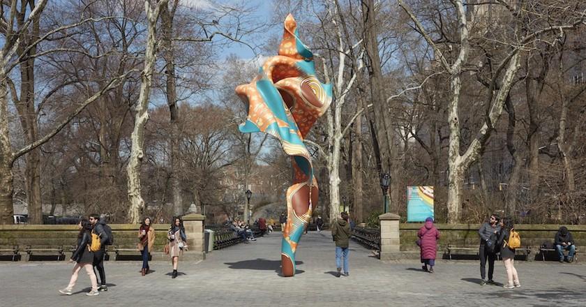 Yinka Shonibare's 'Wind Sculpture (SG) I'   Courtesy of the Public Art Fund