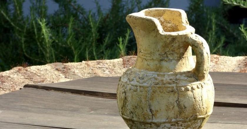 Traditional clay jug