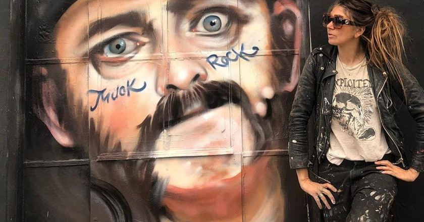 A mural of Lemmy