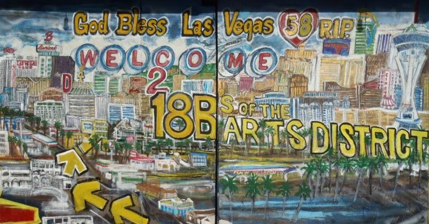 One of many murals in the Las Vegas Arts District
