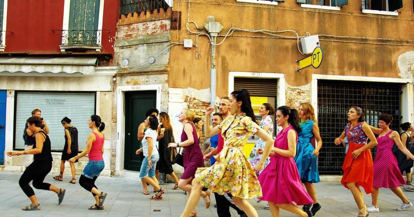 Marinella Senatore, The School of Narrative Dance, performance view, Venice, 2015