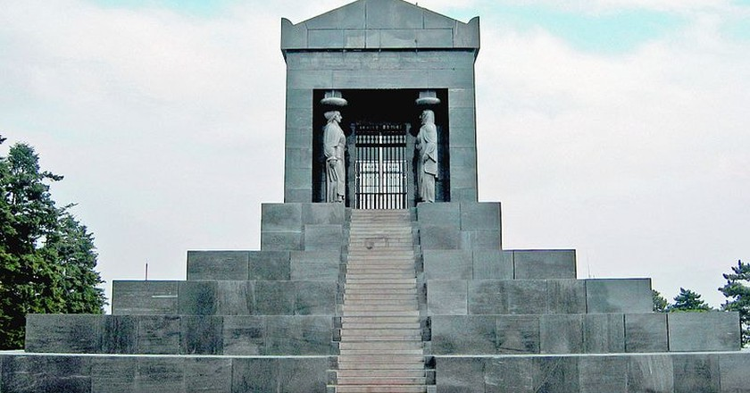 The monument to soldiers lost in World War I