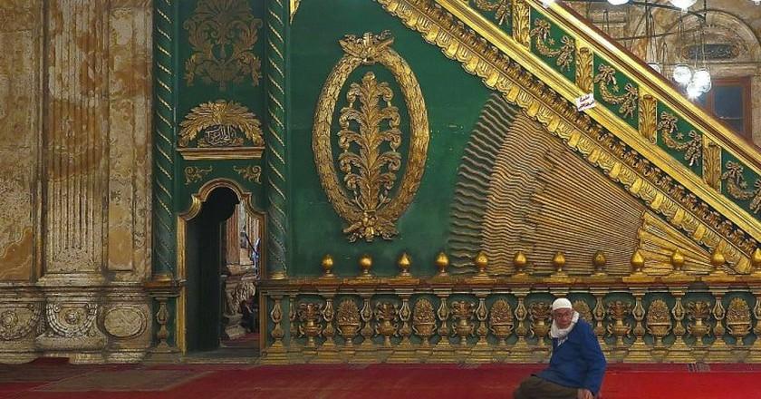 Inside interior of Mosque of Muhammed Ali