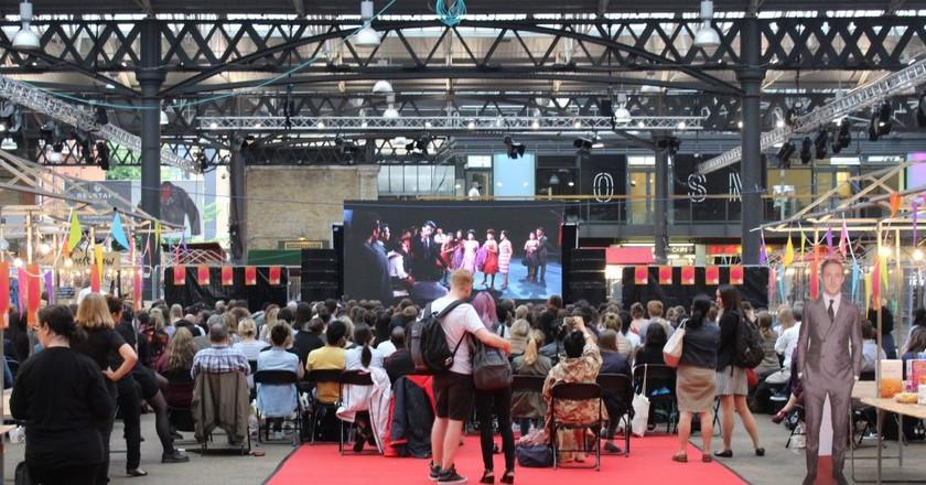 Outdoor Screening at Old Spitalfields Market