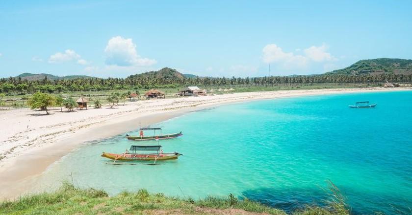 Views over Tanjung Aan bay