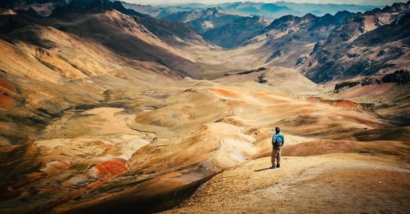 Hike remote mountains in Peru
