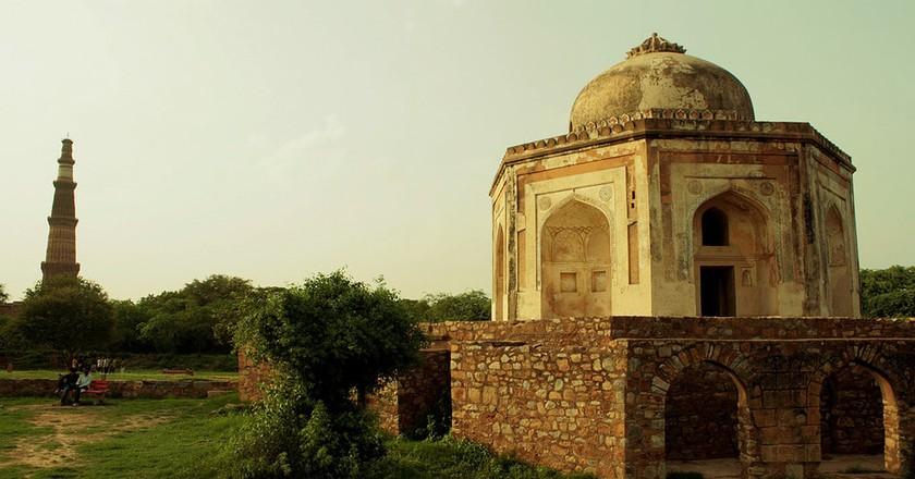 Ruins of Sir Thomas Metcalfe's Dilkusha at the Mehrauli Archaeological Park