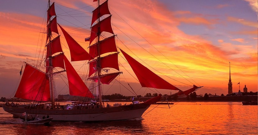 A Brief History of Saint Petersburg's Scarlet Sails Festival