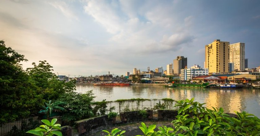 View of Pasig River from Intramuros Ruins