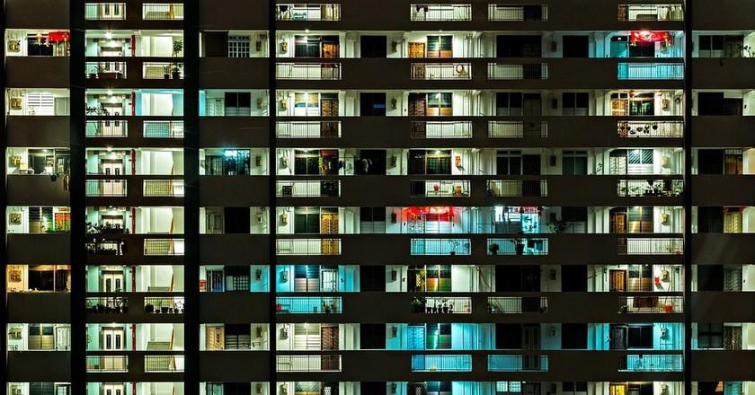 HDB blocks in Singapore