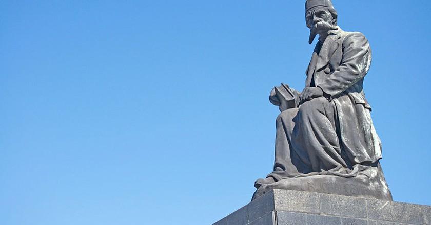 The Vuk Karadžicć monument in Belgrade