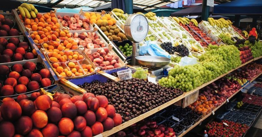 Take your pick of fruit and veg at the farmers' market