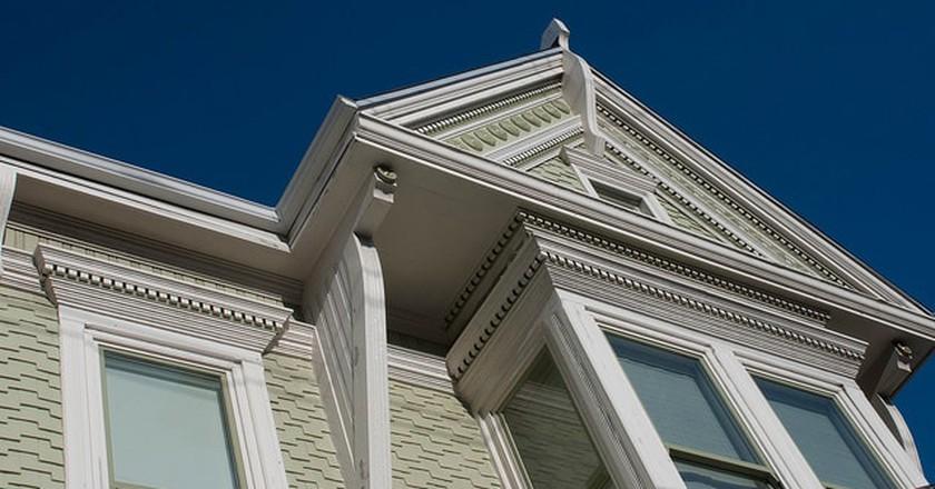 Victorian trim details in the Noe Valley neighborhood of San Francisco