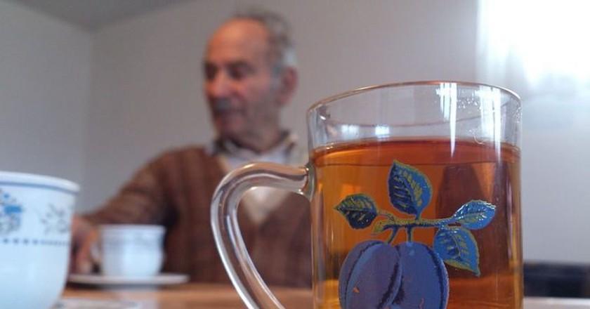 Don't worry, it isn't a pint of rakija
