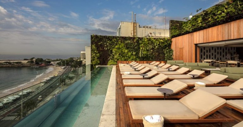The rooftop at the Emiliano Hotel in Rio de Janeiro