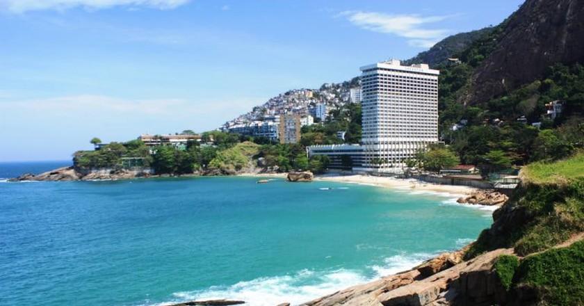The Sheraton Grand in Rio de Janeiro with its stunning ocean views