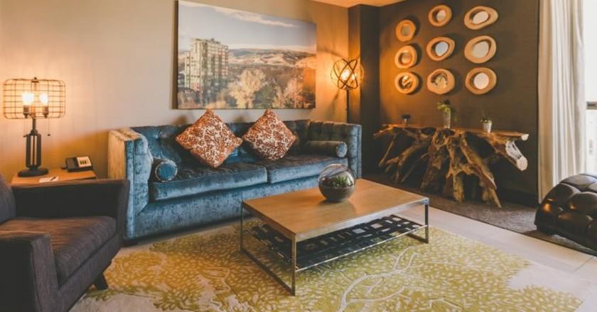 Whitney Peak Hotel suite living room