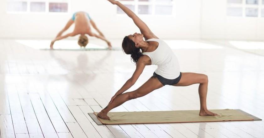 Attend a yoga class at Sofitel's sports centre