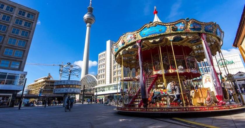 The large, lively square at Alexanderplatz   ©Oliver Hallmann/ Flickr