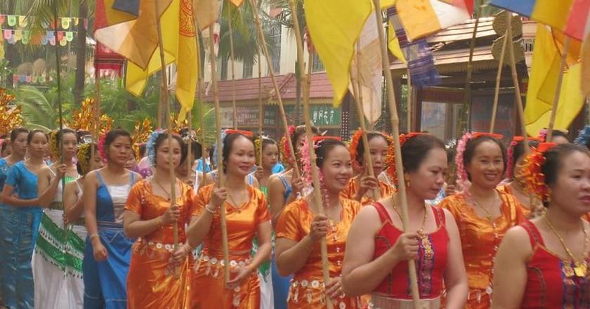 Dai Women Celebrate Thai New Year