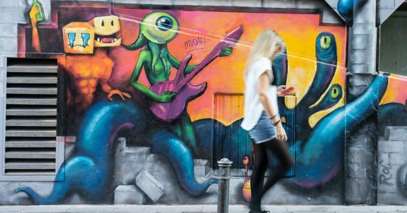 Malasaña is full of eye-catching street art