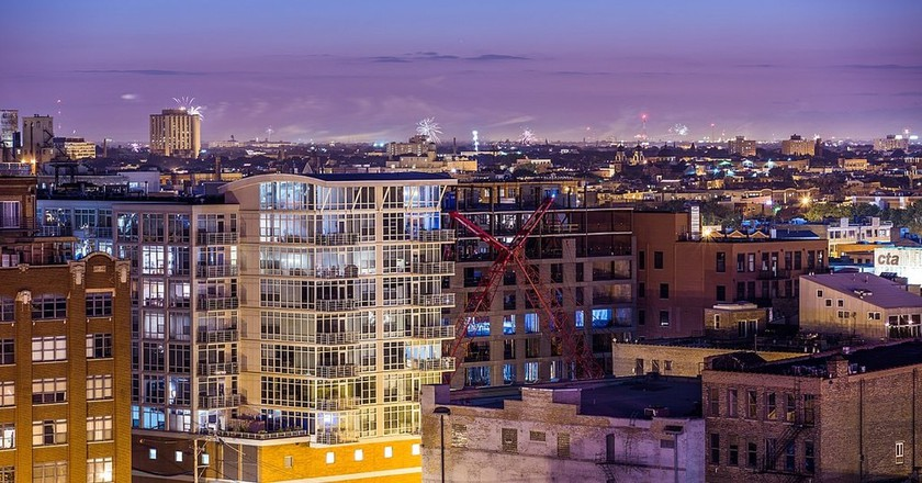 Chicago's West Loop neighborhood is booming with new apartment buildings.