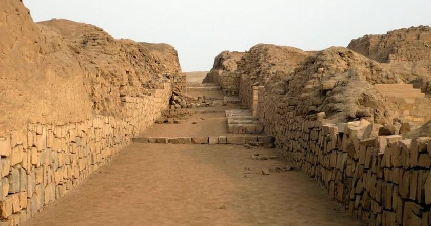 The ruins at  Pachacamac