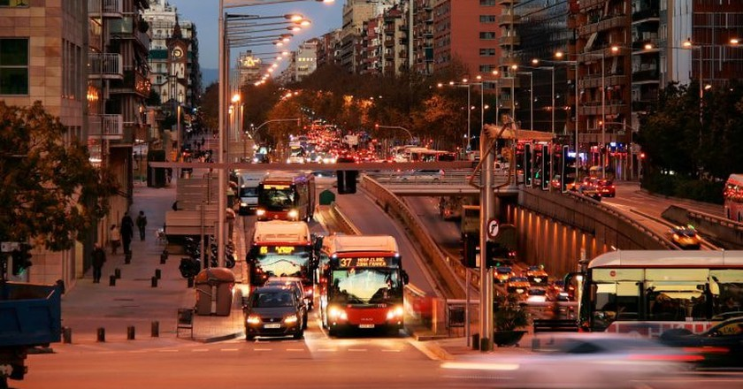 A bus in Barcelona