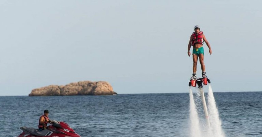 Jet Skiing and Flyboarding